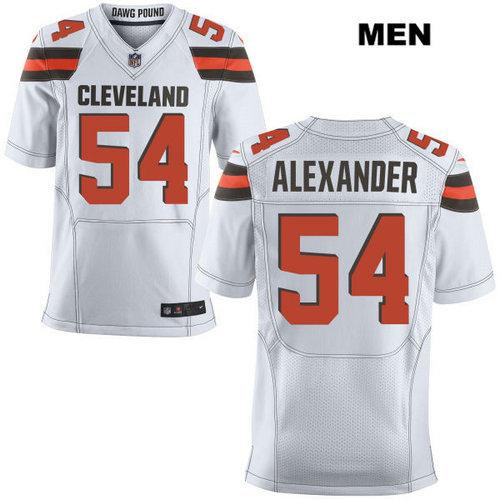Nike Cleveland Browns #54 Dominique Alexander White Stitched Men's NFL Elite Jersey