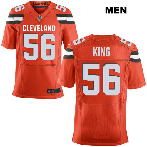 Nike Cleveland Browns #56 Deon King Orange Stitched Men's NFL Elite Jersey