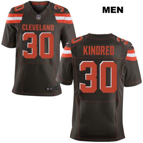 Nike Cleveland Browns #30 Derrick Kindred Brown Stitched Men's NFL Elite Jersey