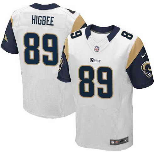 Nike Rams #89 Tyler Higbee White Men's Stitched NFL Elite Jersey