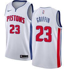 Nike Detroit Pistons #23 Blake Griffin White Men's NBA Swingman Association Edition Jersey