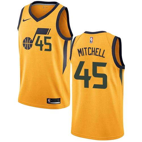 Nike Utah Jazz #45 Donovan Mitchell Yellow Men's NBA Swingman Statement Edition Jersey