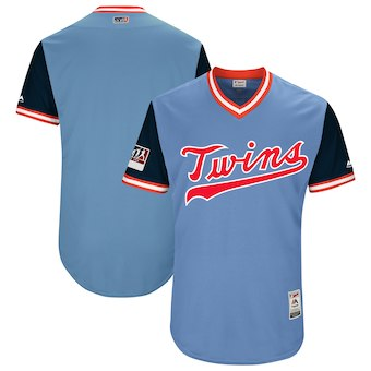 Minnesota Twins Blank Majestic Light Blue 2018 Players' Weekend Authentic Jersey