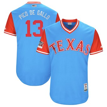 Texas Rangers 13 Joey Gallo Pico de Gallo Men's Majestic Red 2018 Players' Weekend Authentic Jersey