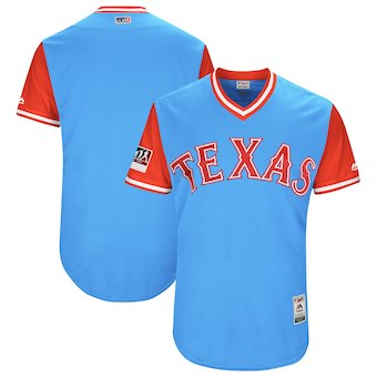 Texas Rangers Blank Men's Majestic Red 2018 Players' Weekend Authentic Jersey