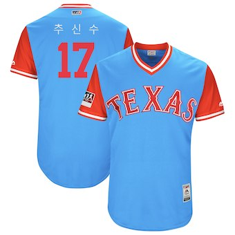 Texas Rangers #17 Shin Soo Choo Men's Majestic Red 2018 Players' Weekend Authentic Jersey