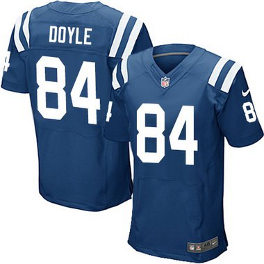 Nike Indianapolis Colts #84 Jack Doyle Blue NFL Men's Elite Jersey