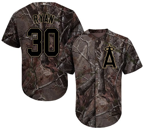 LA Angels of Anaheim #30 Nolan Ryan Realtree Collection Cool Base Stitched MLB Camo Jersey