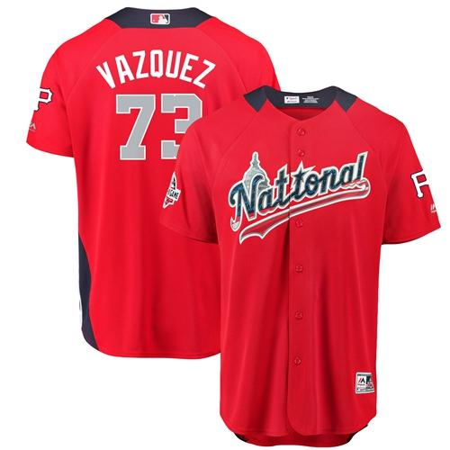 Pirates #73 Felipe Vazquez 2018 All-Star National League Stitched Baseball Red Jersey