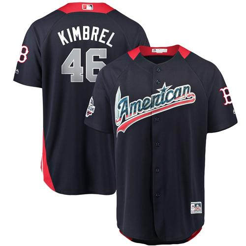 Red Sox #46 Craig Kimbrel 2018 All-Star American League Stitched Baseball Navy Blue Jersey