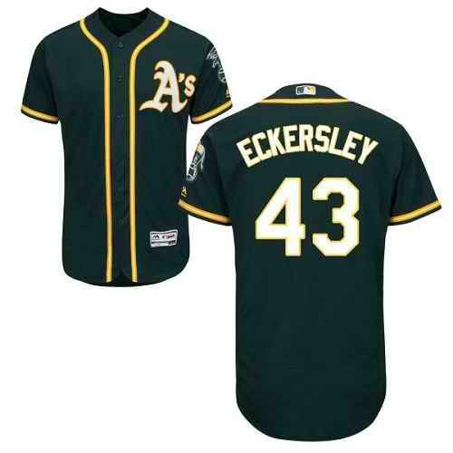 Oakland Athletics #43 Dennis Eckersley Green Men's Flexbase Authentic Collection Stitched MLB Jersey