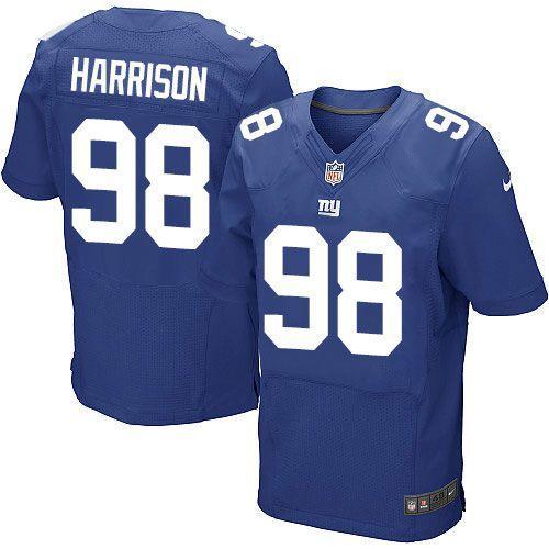 Men's New York Giants #98 Damon Harrison Royal Blue Team Color Stitched Nike NFL Elite Jersey