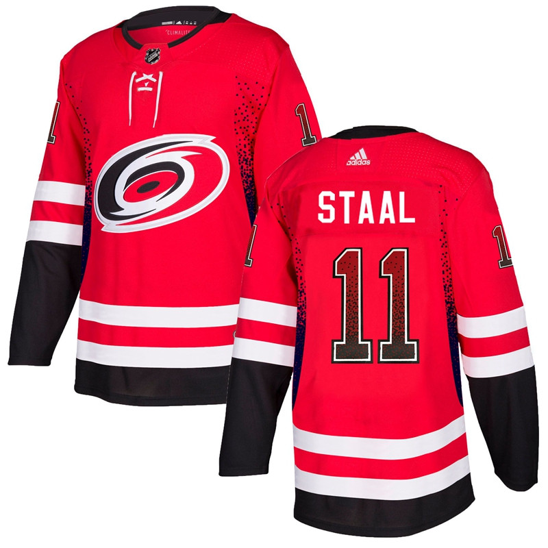 Men's Carolina Hurricanes #11 Jordan Staal Red Drift Fashion Adidas Jersey