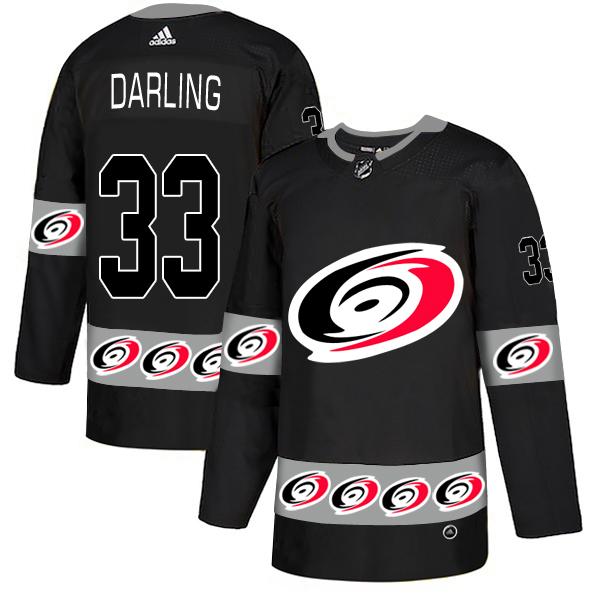 Men's Carolina #33 Soctt Darling Black Team Logos Adidas Fashion Jersey