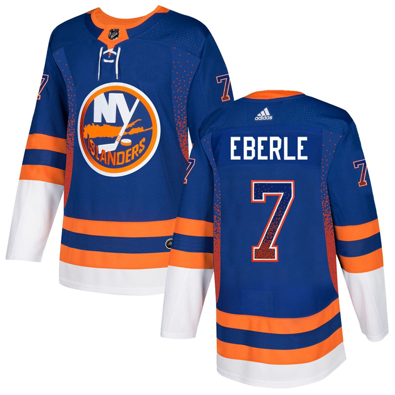 Men's New York Islanders #7 Jordan Eberle Royal Drift Fashion Adidas Jersey
