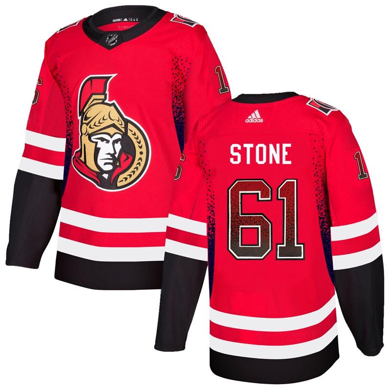 Men's Ottawa Senators #61 Mark Stone Red Drift Fashion Adidas Jersey