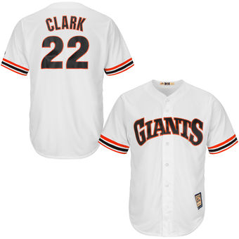San Francisco Giants 22 Will Clark Majestic White Home Cool Base Cooperstown Collection Player Men's Jersey