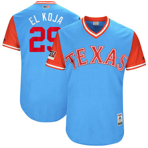 Texas Rangers 29 Adrian Beltre El Koja Majestic Light Blue 2018 Players Weekend Authentic Men's Jersey