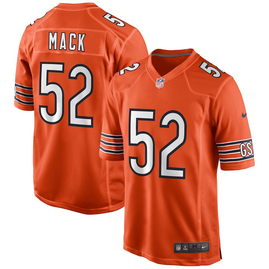 Men's Chicago Bears #52 Khalil Mack Nike Orange Game Jersey