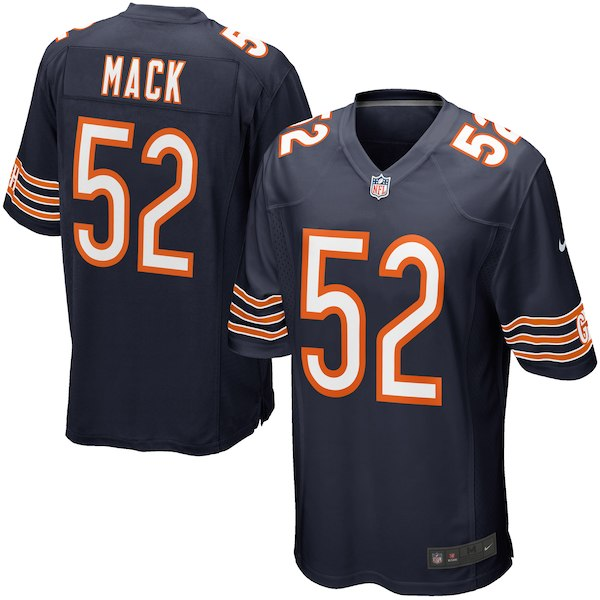 Men's Chicago Bears #52 Khalil Mack Nike Navy Game Jersey