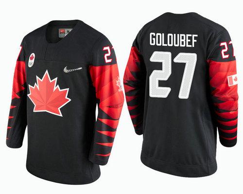Men's Canada Team #27 Cody Goloubef Black 2018 Winter Olympics Jersey