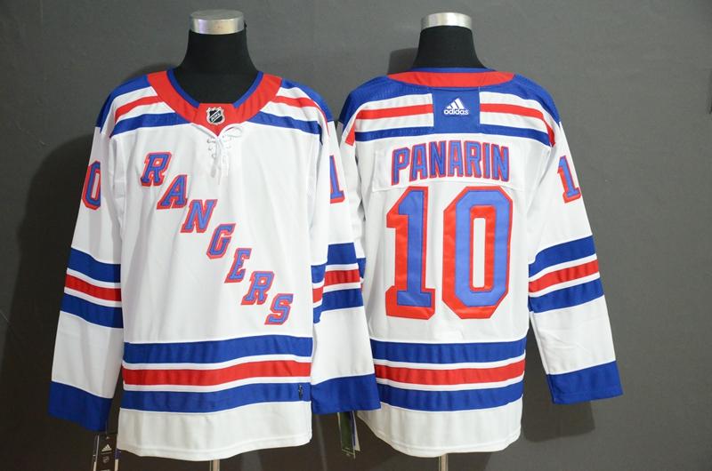 Men's New York Rangers 10 Artemi Panarin White Adidas Jersey