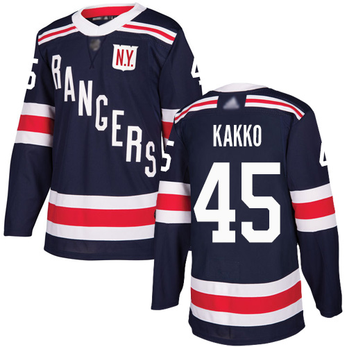 Men's New York Rangers #45 Kaapo Kakko Navy Blue Authentic 2018 Winter Classic Stitched Hockey Jersey