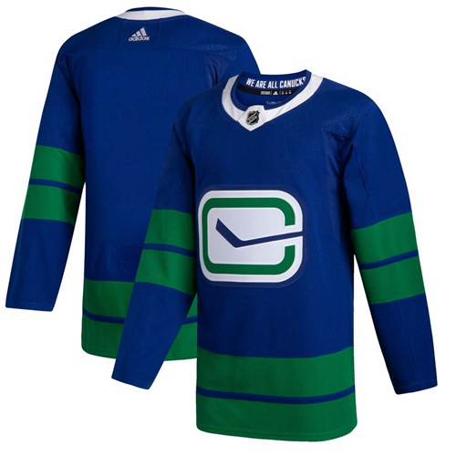 Men's Vancouver Canucks Blank Blue Alternate Authentic Stitched Hockey Jersey