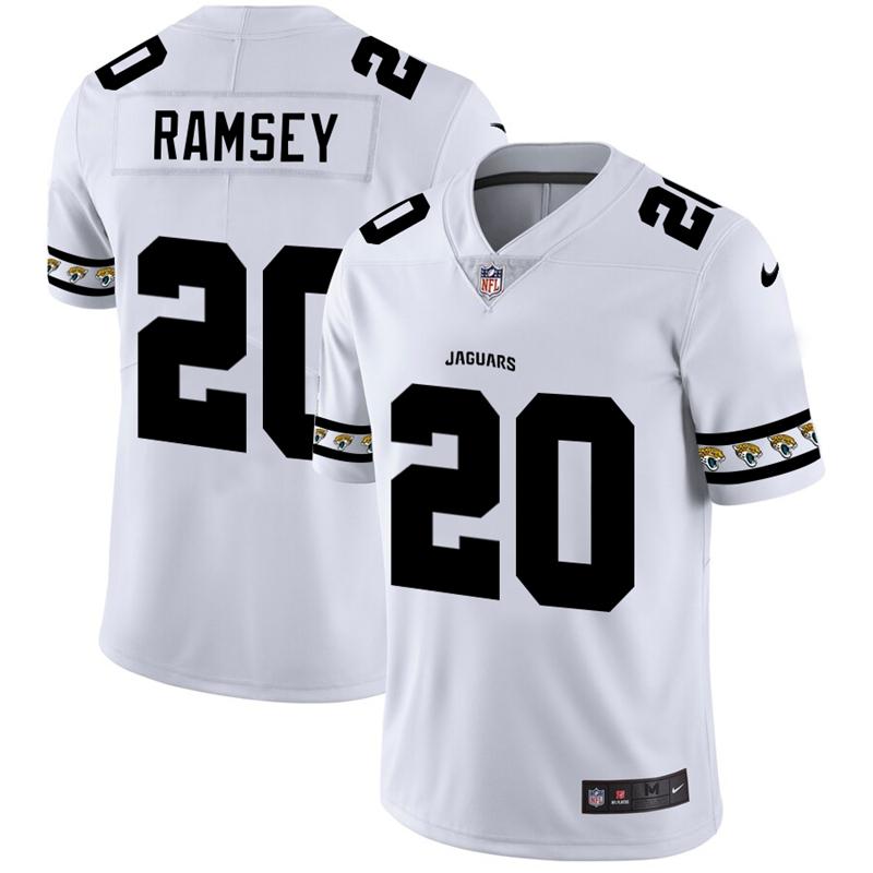 Jacksonville Jaguars #20 Jalen Ramsey Nike White Team Logo Vapor Limited NFL Jersey