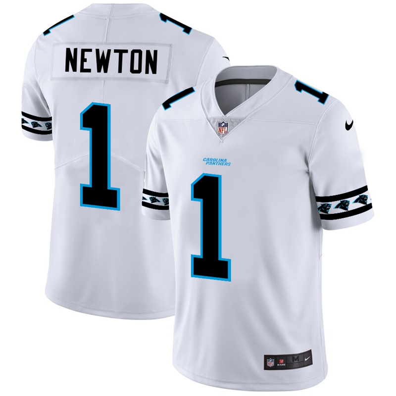 Carolina Panthers #1 Cam Newton Nike White Team Logo Vapor Limited NFL Jersey