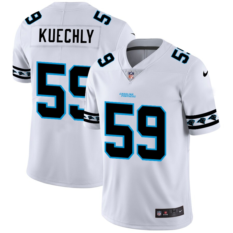 Carolina Panthers #59 Luke Kuechly Nike White Team Logo Vapor Limited NFL Jersey