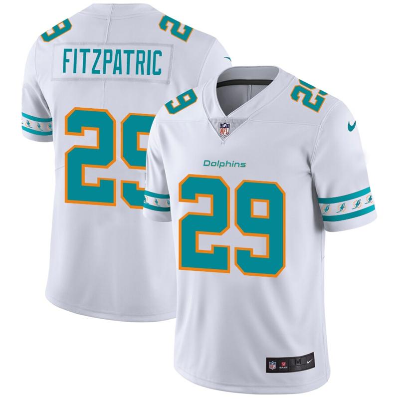 Miami Dolphins #29 Minkah Fitzpatrick Nike White Team Logo Vapor Limited NFL Jersey
