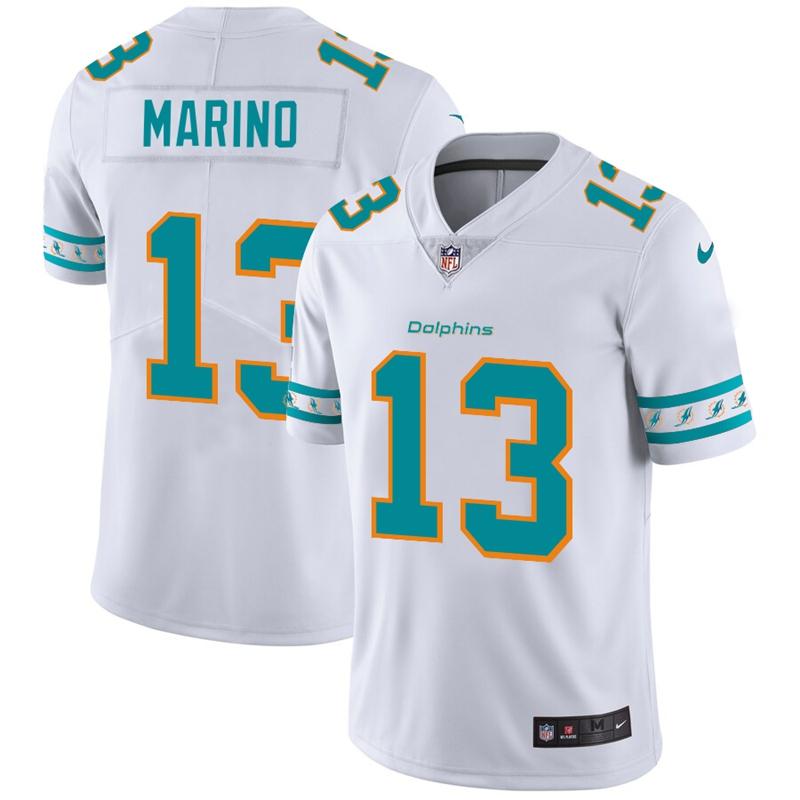 Miami Dolphins #13 Dan Marino Nike White Team Logo Vapor Limited NFL Jersey