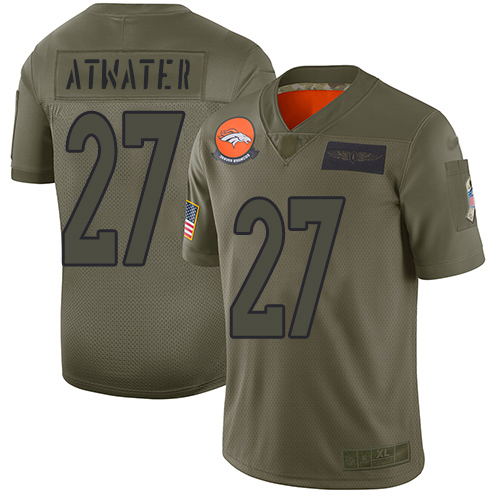 Nike Broncos #27 Steve Atwater Camo Men's Stitched NFL Limited 2019 Salute To Service Jersey