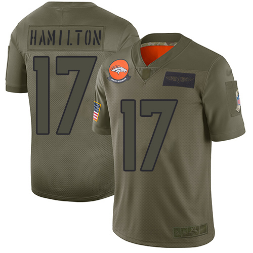 Nike Broncos #17 DaeSean Hamilton Camo Men's Stitched NFL Limited 2019 Salute To Service Jersey