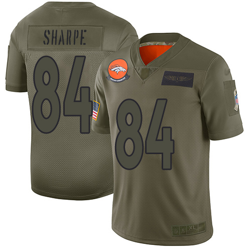 Nike Broncos #84 Shannon Sharpe Camo Men's Stitched NFL Limited 2019 Salute To Service Jersey