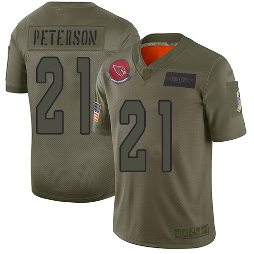 Nike Cardinals #21 Patrick Peterson Camo Men's Stitched NFL Limited 2019 Salute To Service Jersey
