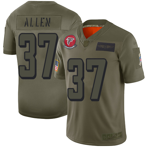 Nike Falcons #37 Ricardo Allen Camo Men's Stitched NFL Limited 2019 Salute To Service Jersey