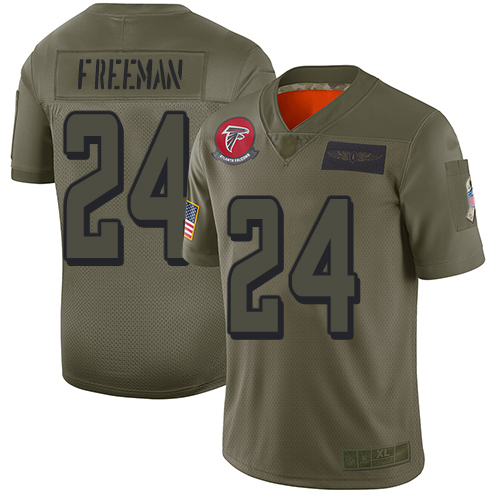 Nike Falcons #24 Devonta Freeman Camo Men's Stitched NFL Limited 2019 Salute To Service Jersey