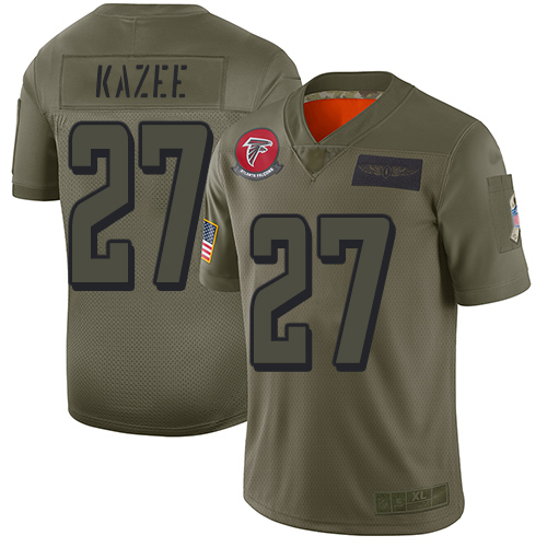 Nike Falcons #27 Damontae Kazee Camo Men's Stitched NFL Limited 2019 Salute To Service Jersey