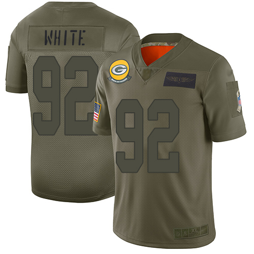Nike Packers #92 Reggie White Camo Men's Stitched NFL Limited 2019 Salute To Service Jersey