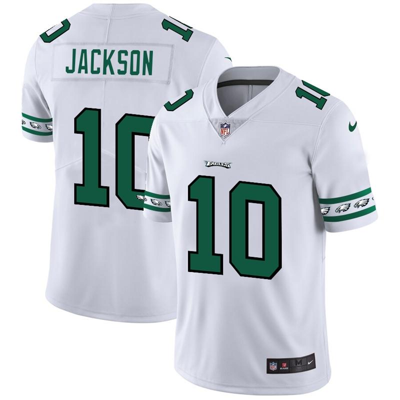 Philadelphia Eagles #10 DeSean Jackson Nike White Team Logo Vapor Limited NFL Jersey