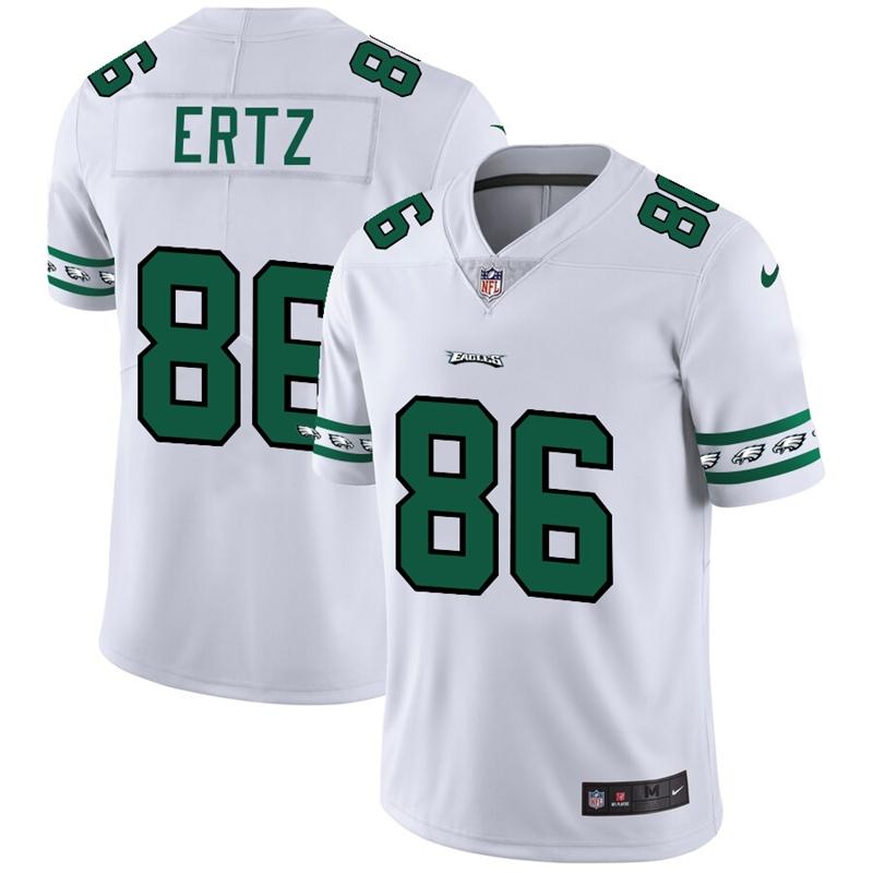 Philadelphia Eagles #86 Zach Ertz Nike White Team Logo Vapor Limited NFL Jersey