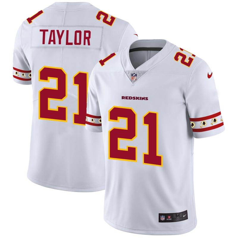 Washington Redskins #21 Sean Taylor Nike White Team Logo Vapor Limited NFL Jersey