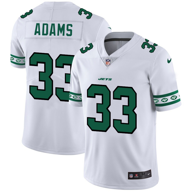 New York Jets #33 Jamal Adams Nike White Team Logo Vapor Limited NFL Jersey