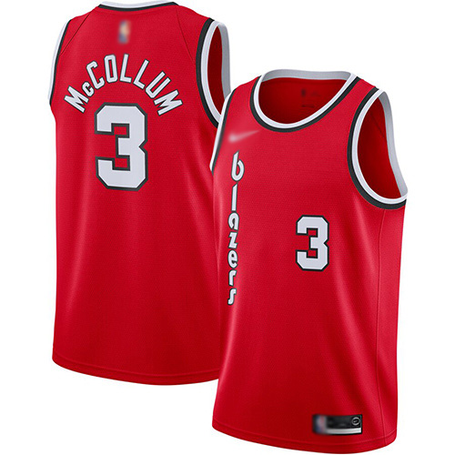 Blazers #3 C.J. McCollum Red Basketball Swingman Hardwood Classics Jersey