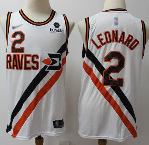 Clippers #2 Kawhi Leonard White Basketball Swingman Hardwood Classics Jersey