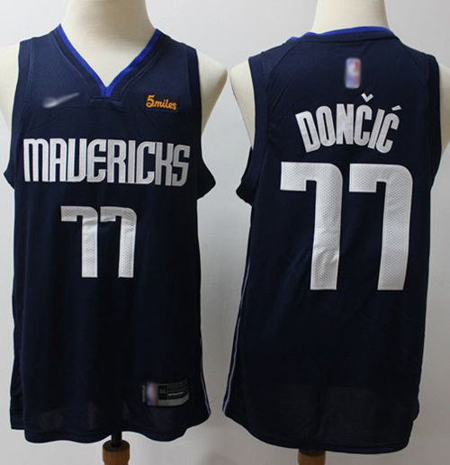 Mavericks #77 Luka Doncic Navy Basketball Swingman Statement Edition 2019-2020 Jersey