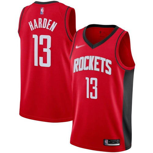 Rockets #13 James Harden Red Basketball Swingman Icon Edition 2019-2020 Jersey