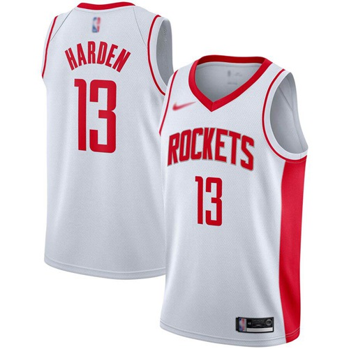 Rockets #13 James Harden White Basketball Swingman Association Edition 2019-2020 Jersey